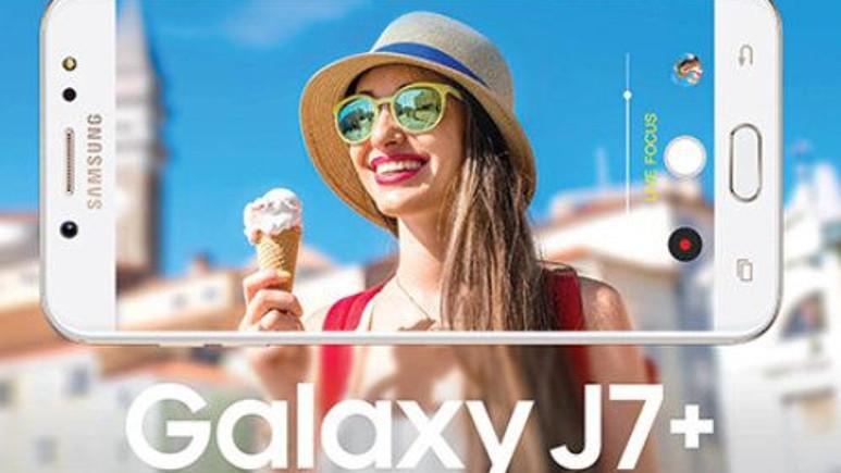 Çift kameralı Galaxy J7+ sızdı!