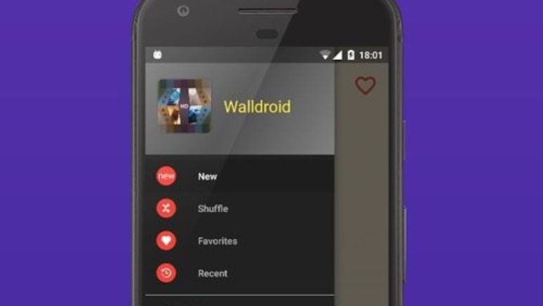 Android için duvar kağıdı uygulaması: Walldroid