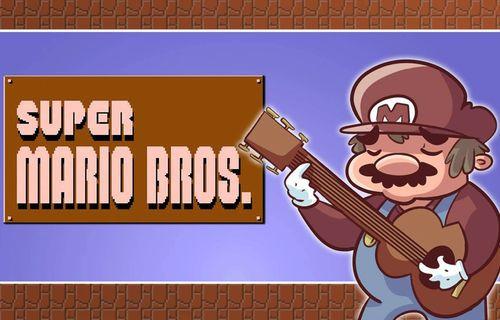 Super Mario müziğini Nintendo'nun efsane ismi gitar ile çaldı
