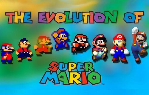 Super Mario'nun yıllar içerisindeki gelişimi