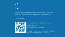 Windows 10 şimdi de mavi ekran hatası veriyor