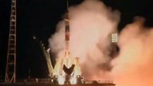 Üç astronot uzaya gönderildi