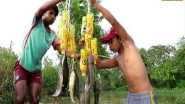 Bu balık avlama yöntemi şaşkına çevirdi
