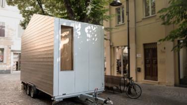 Minimalistlere hitap edecek ultra küçük ev