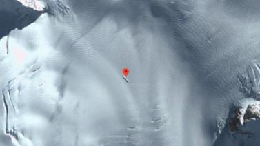 Google Haritalar düşen bir UFO tespit etti