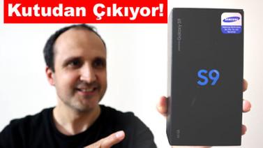 Samsung Galaxy S9 kutu içeriği