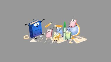 Google'dan okulun ilk günü için Doodle!