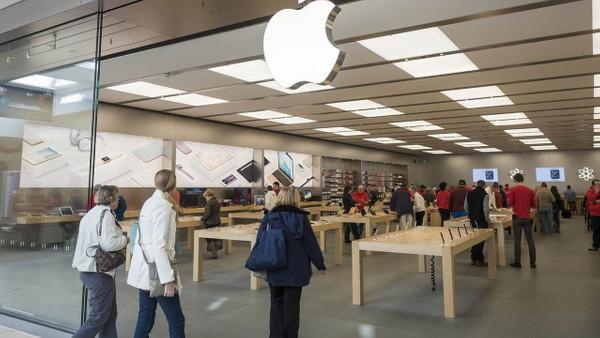 Apple Store'u böyle yağmaladılar!