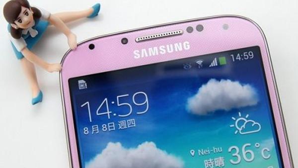 Galaxy S4'ün pembe rengi ortaya çıktı
