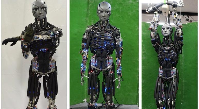 Japonlar şınav çeken ve terleyen robot geliştirdi