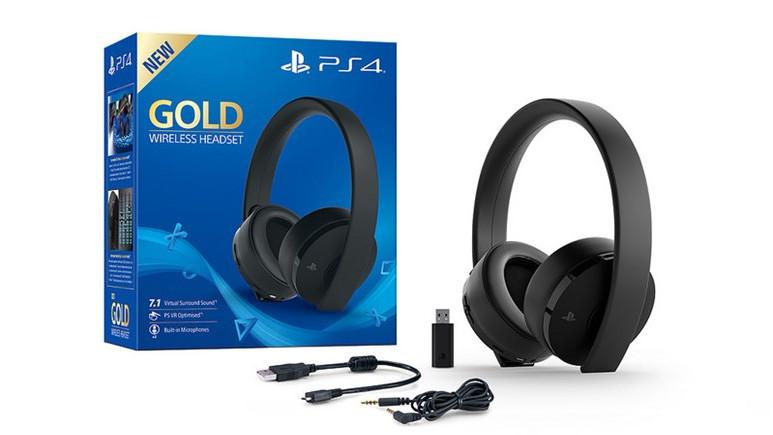 PlayStation 4 Gold kablosuz kulaklık duyuruldu!