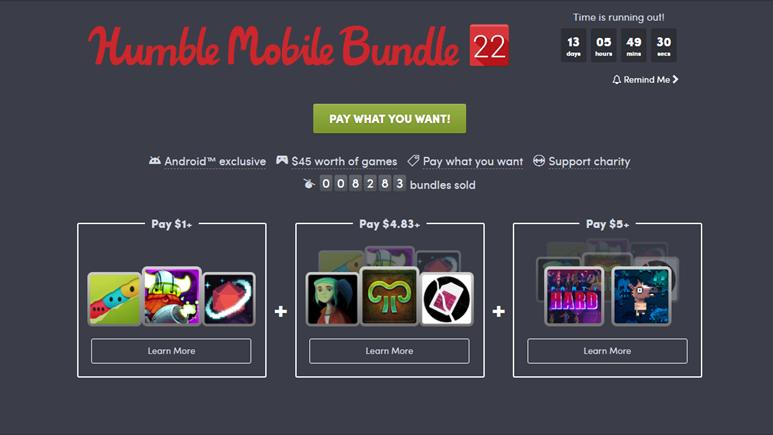 Humble Bundle mobil cihazda oyun oynayanları da unutmuyor!