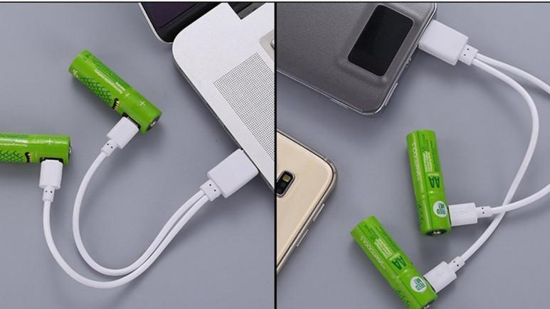 USB ile şarj edilebilen piller Türkiye'de!