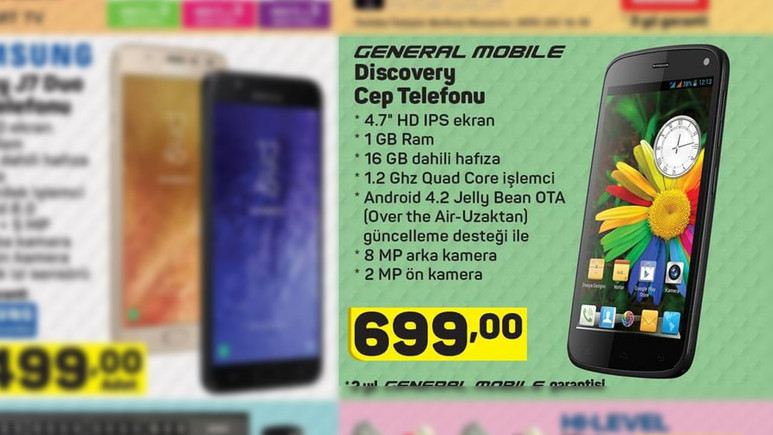 General Mobile Discovery A101'e geliyor