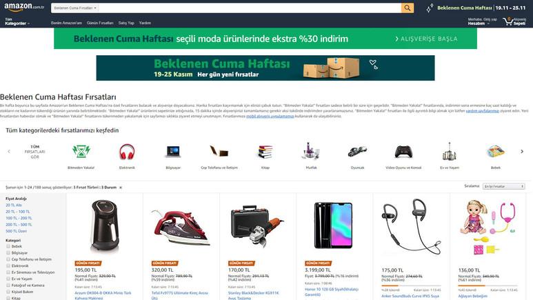 Amazon.com.tr Beklenen Cuma indirimi başladı