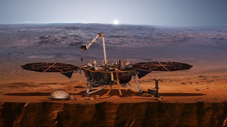 Insight uzay aracı Kızıl Gezegen'e iniş yapıyor! Canlı izle