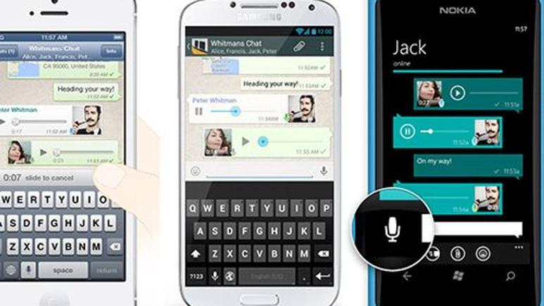 Whatsapp'e sesli konuşma özelliği