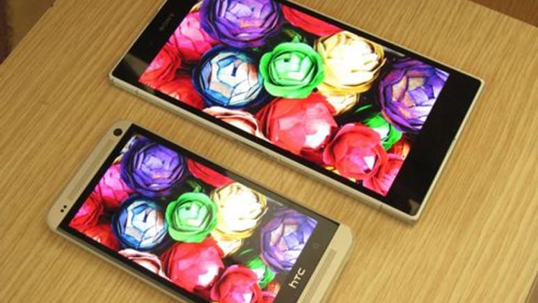 Xperia Z Ultra ve HTC One ekran karşılaştırması!