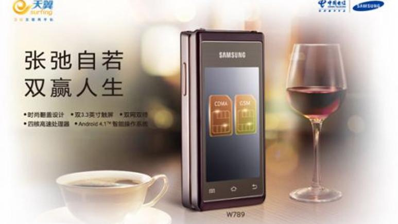 Karşınızda Samsung'un kapaklı Android telefonu!