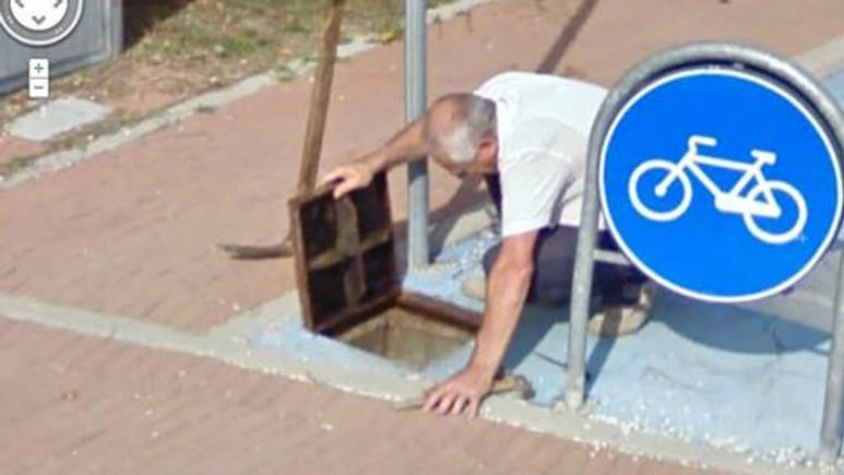 Google Street View'dan komik görüntüler