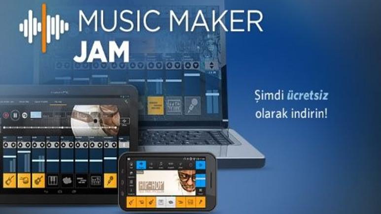 Music Maker Jam ile kendi müziklerinizi oluşturun!
