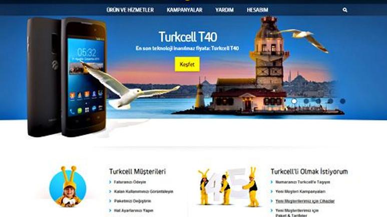 Turkcell yenilenen web sitesiyle karşınızda!
