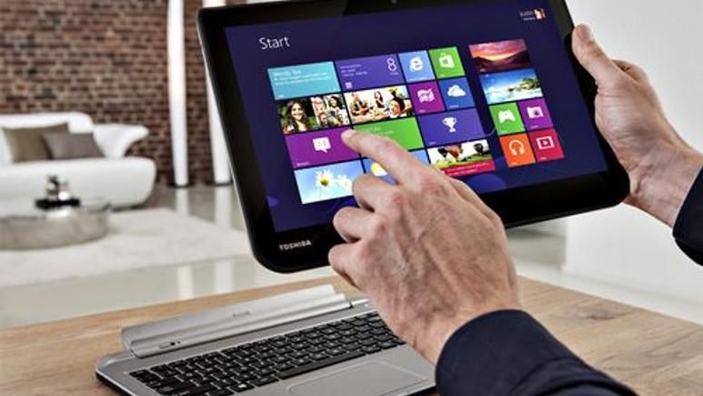 Toshiba'dan hem Notebook, hem tablet 2'si bir arada!