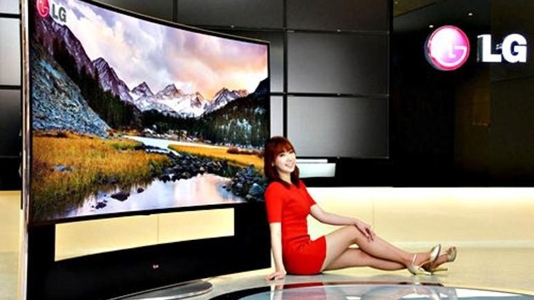 Dünyanın ilk 105 inç CURVED ULTRA HD televizyonu LG'den geldi!