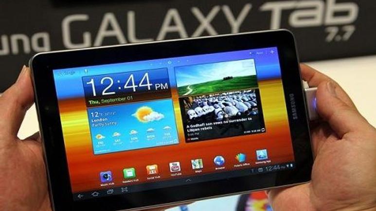 Samsung'dan yüksek çözünürlüklü AMOLED tablet!