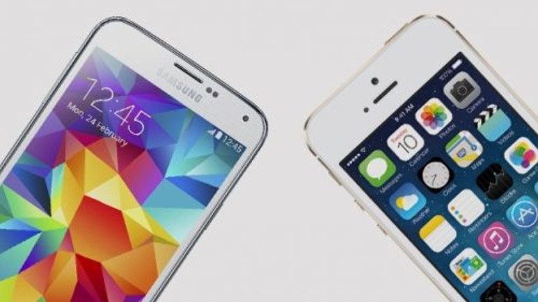 Hangisi daha hızlı? Galaxy S5 vs iPhone 5S! Video