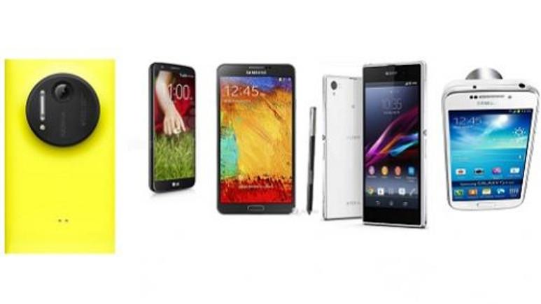 Dev Karşılaştırma! Xperia Z1,LG G2, Galaxy Note3, Galaxy S4Zoom ve Lumia 1020 hünerlerini sergiliyor