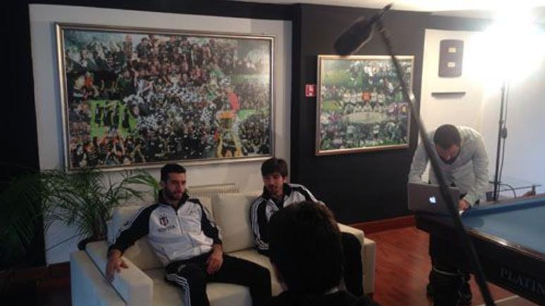 Beşiktaşlı futbolcular BJKYandex için  kamera karşısında!
