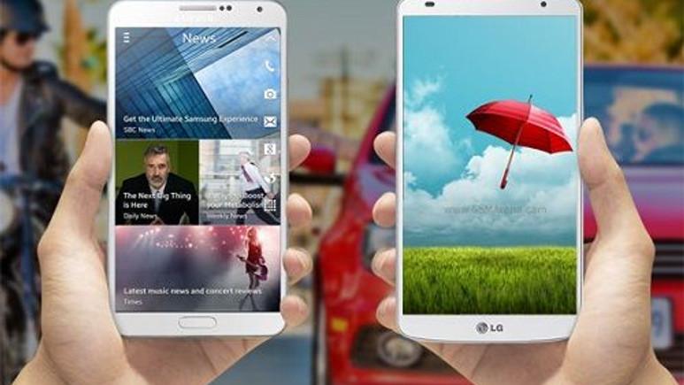 Devlerin Savaşı! Samsung Galaxy Note 3 ve LG G Pro 2 Karşılaştırma