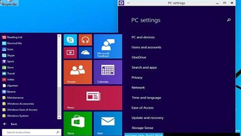 İşte Windows 9'un ekran görüntüleri