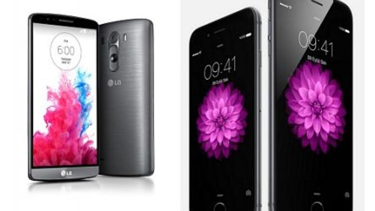 LG G3 ve iPhone 6 karşılaştırma