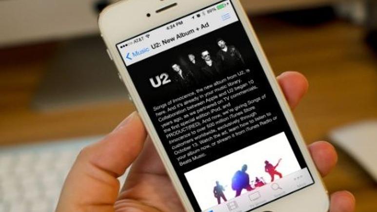 iPhone'dan U2 albümü nasıl silinir?