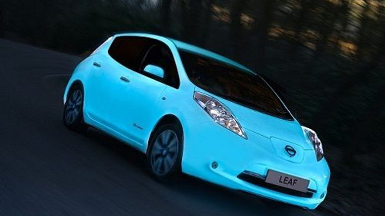 Nissan, elektrikli Leaf'in karanlıkta parlayan modelini duyurdu