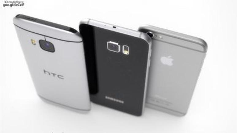 HTC One M9 'un iPhone 6 ve Galaxy S6 ile karşılaştırması