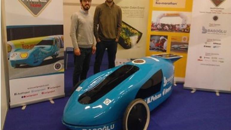 Yıldız Teknik Üniversitesinin elektrikli arabası ''WIN'' Otomasyon Fuarı'ında sergilendi