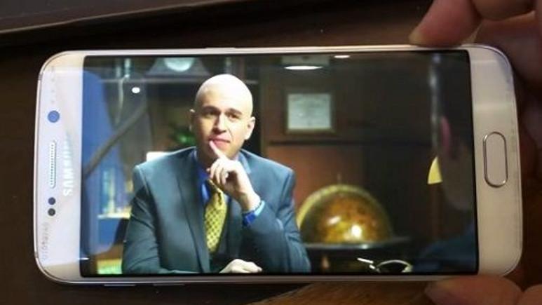Galaxy S6 Edge'in kavisli ekranında videolar nasıl görünüyor?