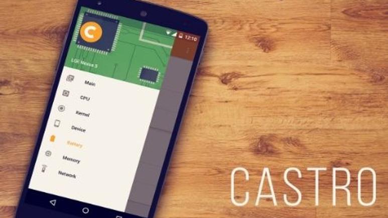 Castro size Android'li cihazınızın iç bilgilerini sunuyor!