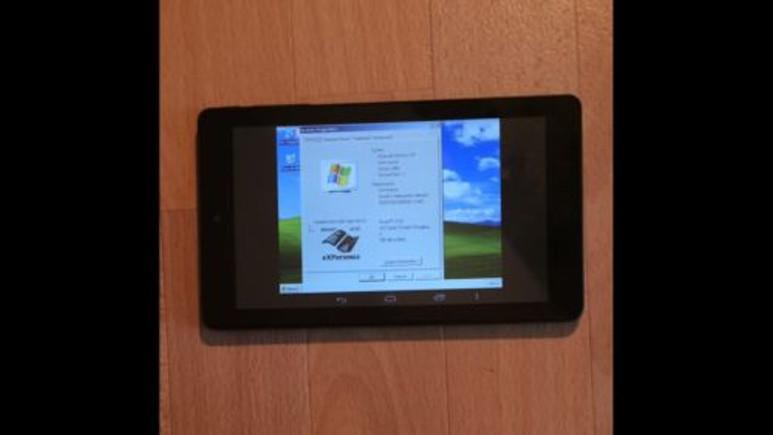 İşte Windows XP ve Windows 7 ile çalışan Android tablet