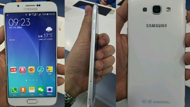 Samsung Galaxy A8 çalışırken görüntülendi