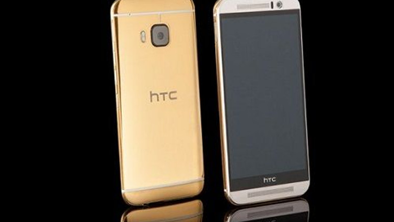 Altın kaplama One M9 satışa çıktı