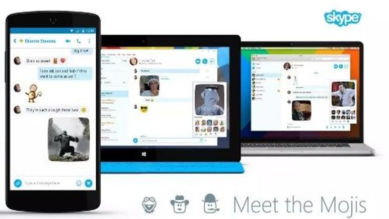 Skype tüm platformlardaki uygulamasına 'Mojis' özelliği ekledi!