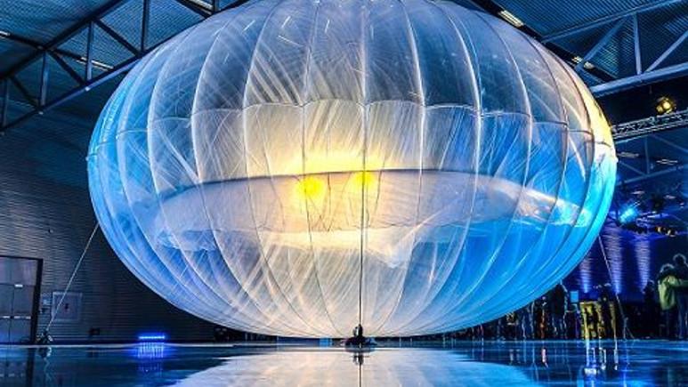 Google'ın internet taşıyan balonları 2016'da faaliyete geçecek