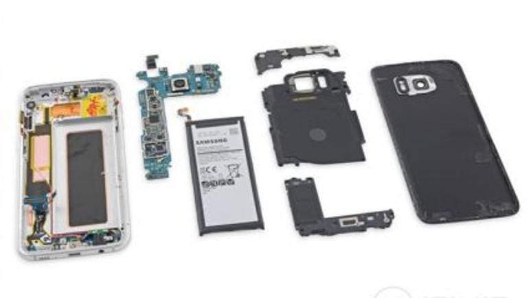 Şimdi de Galaxy S7 Edge'i parçaladılar!