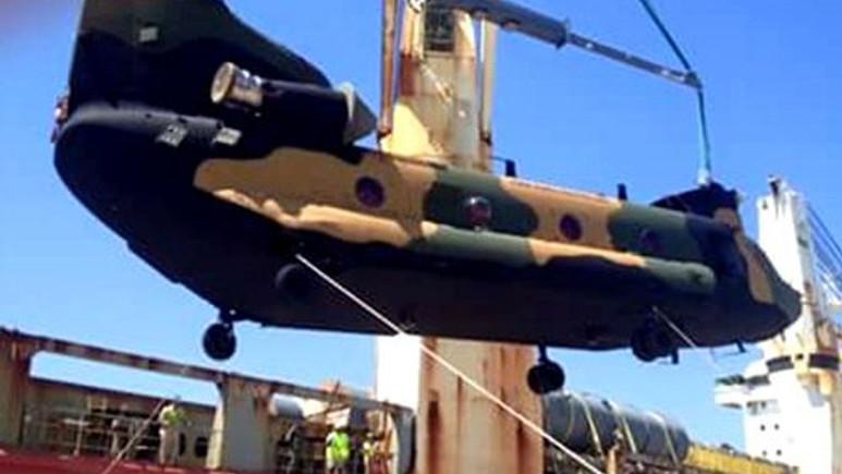 Türkiye'nin yeni gücü ilk Chinook helikopteri teslim edildi