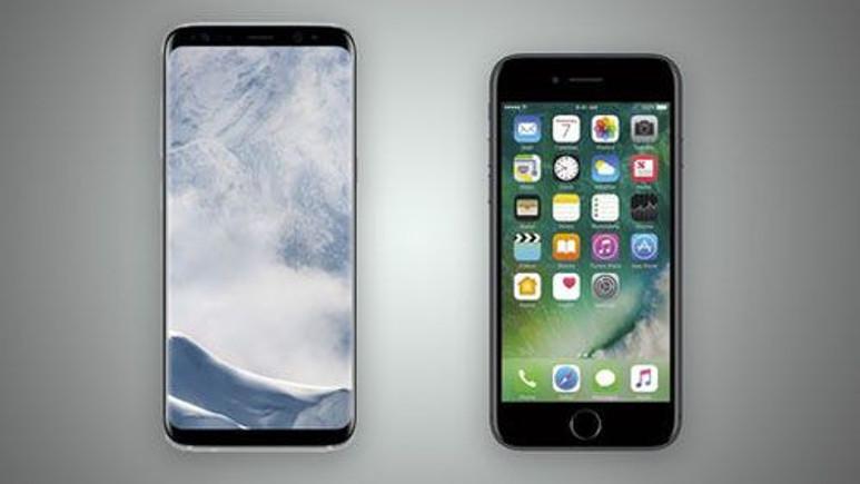 Galaxy S8 ve iPhone 7 karşı karşıya!