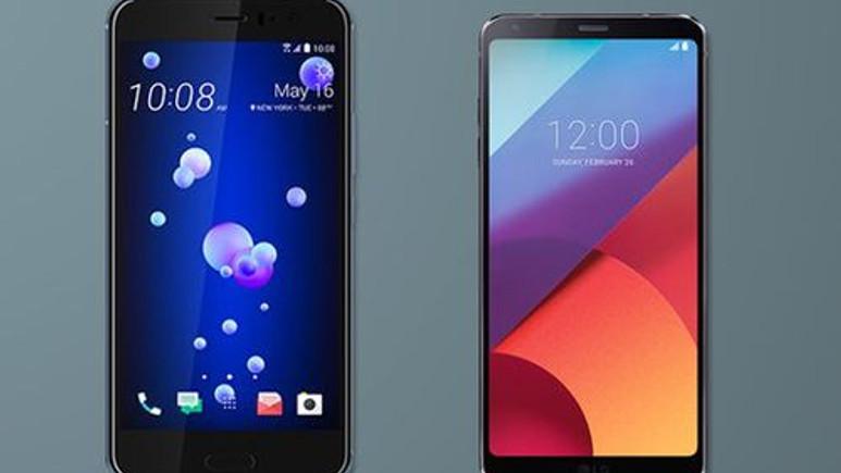 HTC U11 ve LG G6 karşılaştırması